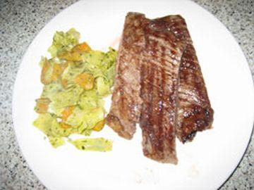Flank Steak auf dem Teller
